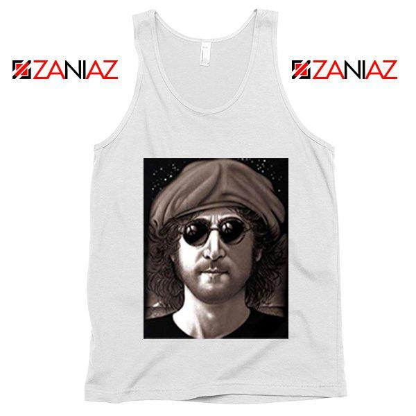 John Lennon Imagine Tank Top The Beatles Band Music Tank Top White