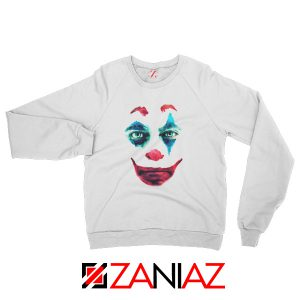 Joker 2019 Movie Sweatshirt Joaquin Phoenix Joker Sweatshirt White