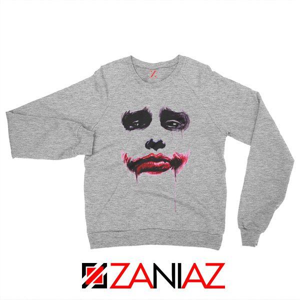 Joker Face Sweatshirts Joker Film Best Sweatshirts Size S-2XL Sport Grey