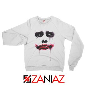 Joker Face Sweatshirts Joker Film Best Sweatshirts Size S-2XL White