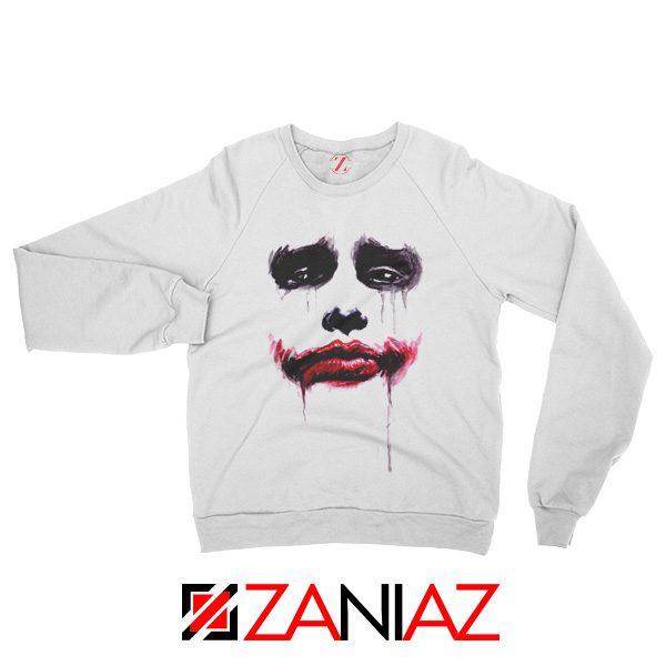 Joker Face Sweatshirts Joker Film Best Sweatshirts Size S-2XL White
