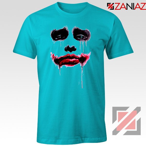Joker Face T Shirt Joker Film Best Tee Shirts Size S-3XL Light Blue