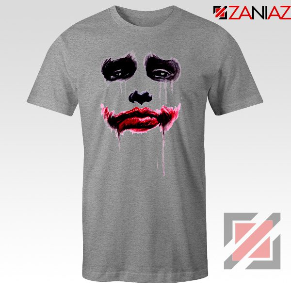 Joker Face T Shirt Joker Film Best Tee Shirts Size S-3XL Sport Grey