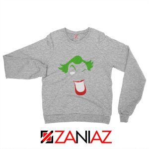 Joker Smile Sweatshirt Joker Film Best Sweatshirt Size S-2XL Grey