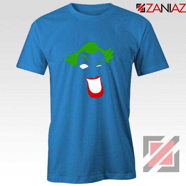Joker Smile T-shirt Joker Film Best Tee Shirts Size S-3XL Light Blue