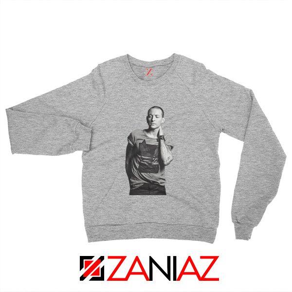 Linkin Park Sweatshirt Chester Charles Bennington Sweatshirt Size S-2XL Grey