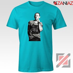 Linkin Park Tshirt Chester Charles Bennington Tshirt Size S-3XL Light Blue