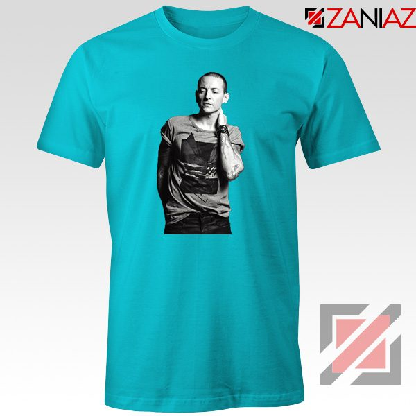 Linkin Park Tshirt Chester Charles Bennington Tshirt Size S-3XL Light Blue