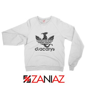 Logo Dracarys Sweatshirt Game of Thrones Sweatshirt Size S-2XL White