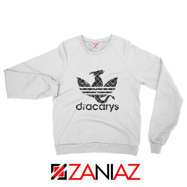 Logo Dracarys Sweatshirt Game of Thrones Sweatshirt Size S-2XL White