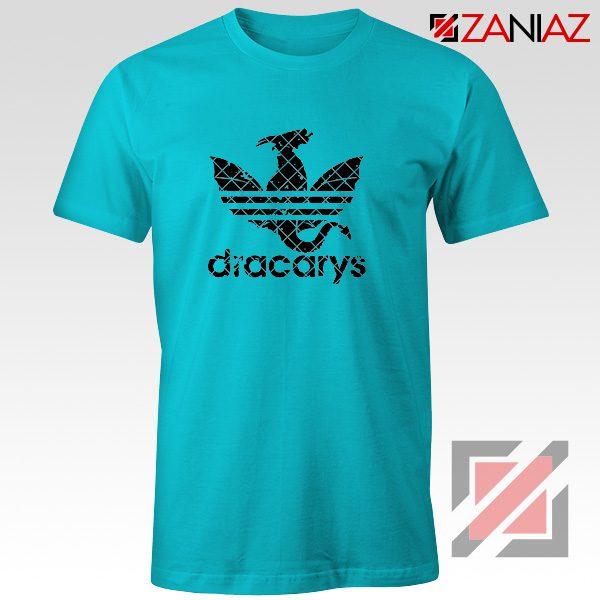Logo Dracarys T-Shirt Game of Thrones Best Tee Shirt Size S-3XL Light Blue