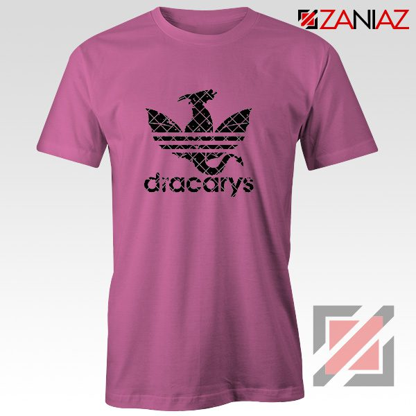 Logo Dracarys T-Shirt Game of Thrones Best Tee Shirt Size S-3XL Pink