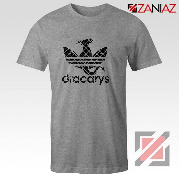 Logo Dracarys T-Shirt Game of Thrones Best Tee Shirt Size S-3XL Sport Grey