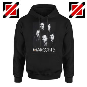 Maroon 5 Band Face Logo Hoodie Adam Levine Maroon 5 Hoodie Black