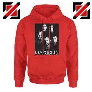 Maroon 5 Band Face Logo Hoodie Adam Levine Maroon 5 Hoodie Red