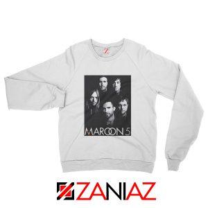 Maroon 5 Band Face Logo Sweatshirt Adam Levine Maroon 5 Sweatshirt White