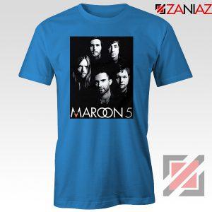 Maroon 5 Band Face Logo T-Shirt Adam Levine Maroon 5 Tshirt Blue