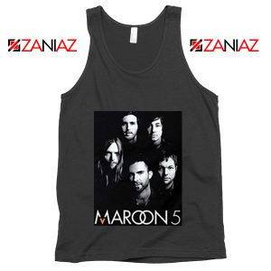 Maroon 5 Band Face Logo Tank Top Adam Levine Maroon 5 Tank Top Black