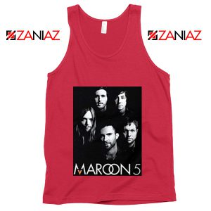 Maroon 5 Band Face Logo Tank Top Adam Levine Maroon 5 Tank Top Red