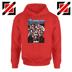 Marvel Avengers Endgame Group Best Hoodie Size S-2XL Red