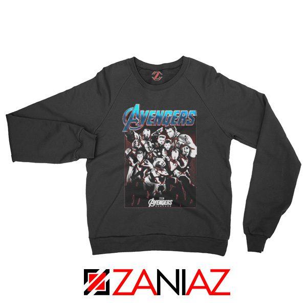 Marvel Avengers Endgame Group Best Sweatshirt Size S-2XL Black