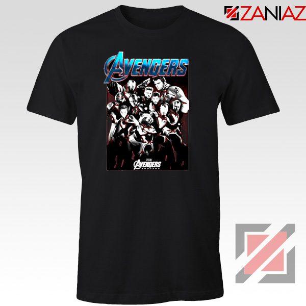 Marvel Avengers Endgame Group Best Tshirt Size S-3XL Black