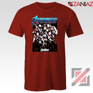 Marvel Avengers Endgame Group Best Tshirt Size S-3XL Red