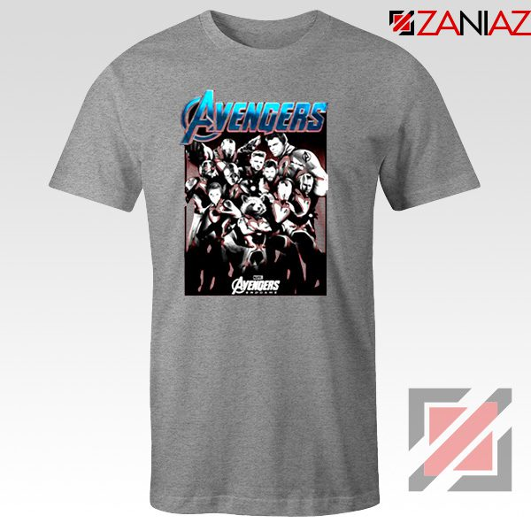 Marvel Avengers Endgame Group Best Tshirt Size S-3XL Sport Grey