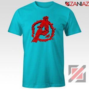 Marvel Avengers Endgame Tee Shirts Avengers Shattered T-Shirt Light Blue