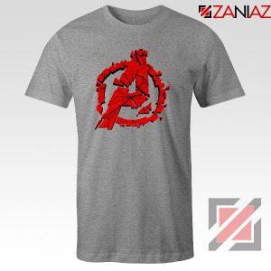 Marvel Avengers Endgame Tee Shirts Avengers Shattered T-Shirt Sport Grey