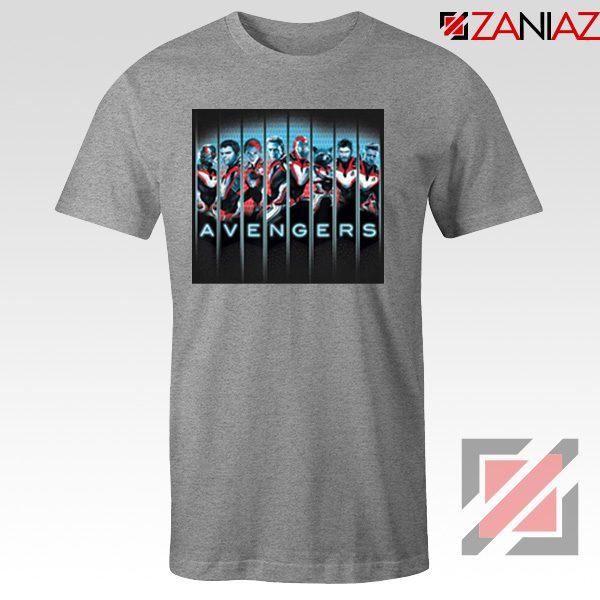 Marvel Avengers Endgame Tshirt Super Heroes Tee Shirt Size S-3XL Grey