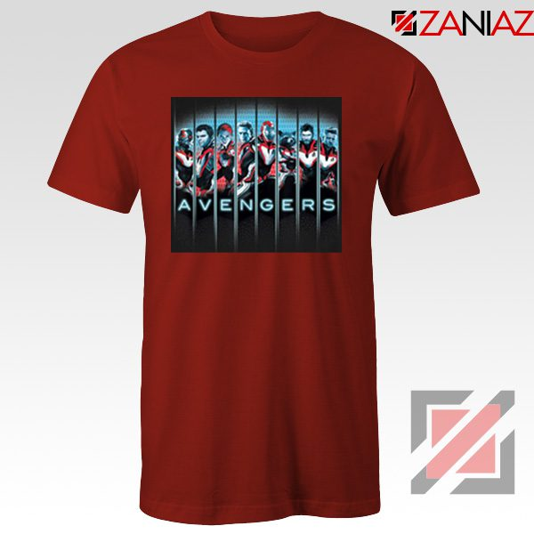 Marvel Avengers Endgame Tshirt Super Heroes Tee Shirt Size S-3XL Red