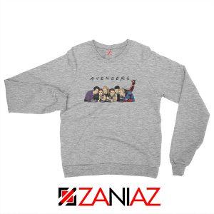 Marvel Avengers Friends Merch Best Sweatshirts Size S-2XL Sport Grey