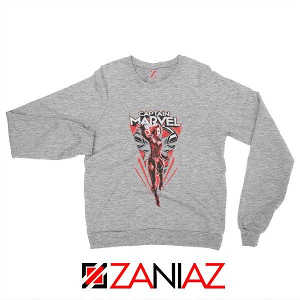 Marvel Captain Sweatshirt Marvel Best Sweatshirt Size S-2XL Sport Grey