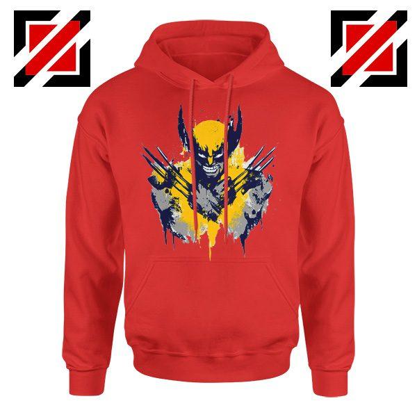 Marvel X-Men Characters Hoodie Wolverine Film Hoodie Size S-2XL Red
