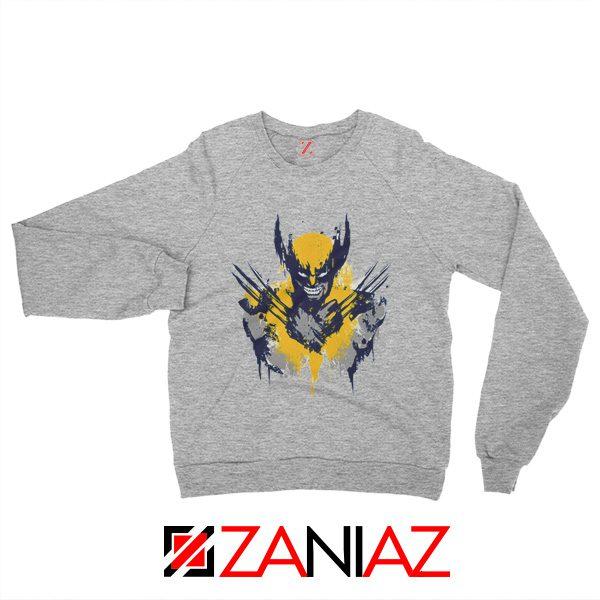 Marvel X-Men Characters Sweatshirt Wolverine Film Sweatshirt Grey