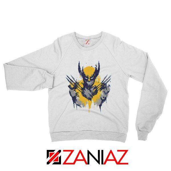 Marvel X-Men Characters Sweatshirt Wolverine Film Sweatshirt White