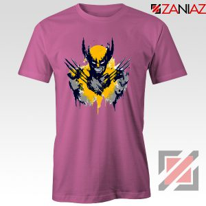 Marvel X-Men Characters T-Shirt Wolverine Film T-shirt Size S-3XL Pink