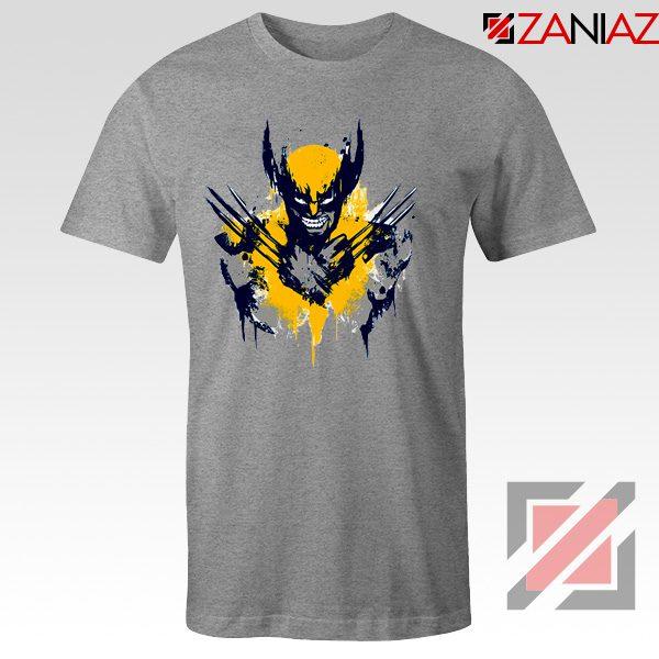 Marvel X-Men Characters T-Shirt Wolverine Film T-shirt Size S-3XL Sport Grey