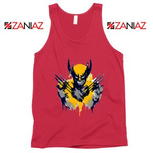 Marvel X-Men Characters Tank Tops Wolverine Film Tank Top Red