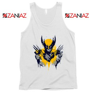 Marvel X-Men Characters Tank Tops Wolverine Film Tank Top White