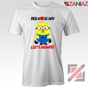 Minion Red Nose Day T-Shirt Funny Minion Tshirts Size S-3XL White