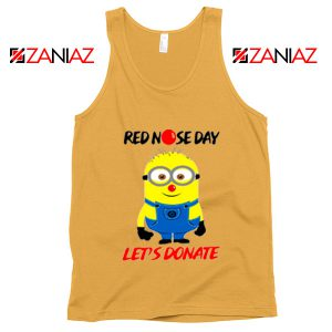 Minion Red Nose Day Tank Top Funny Minion Tank Tops Sunshine