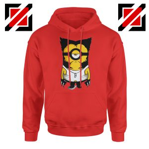 Minion Wolverine Hoodie Funny Minion Best Hoodie Size S-2XL Red
