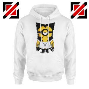 Minion Wolverine Hoodie Funny Minion Best Hoodie Size S-2XL White