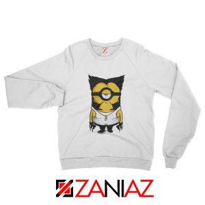 Minion Wolverine Sweatshirt Funny Minion Best Sweatshirt White