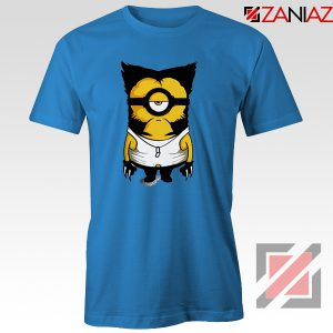 Minion Wolverine T Shirt Funny Minion Best T-shirt Size S-3XL Blue