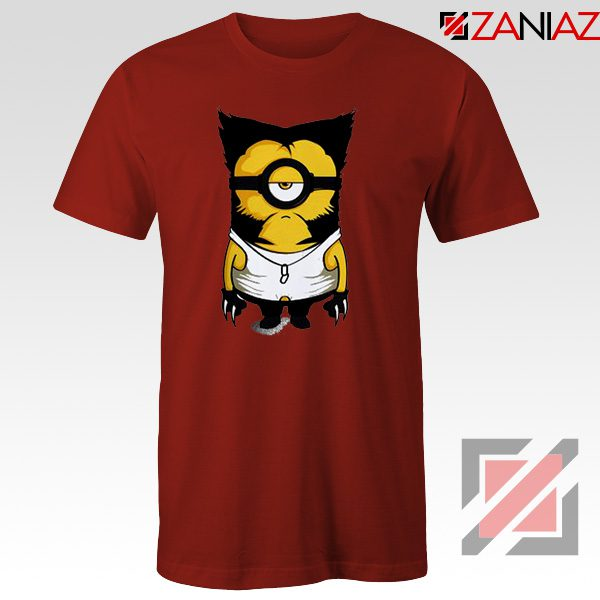 Minion Wolverine T Shirt Funny Minion Best T-shirt Size S-3XL Red