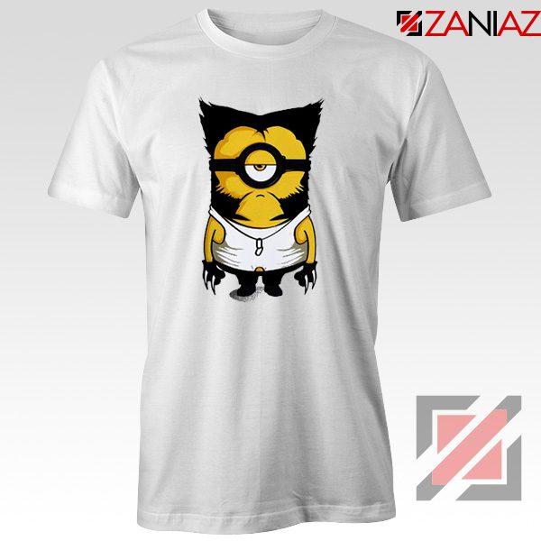 Minion Wolverine T Shirt Funny Minion Best T-shirt Size S-3XL White