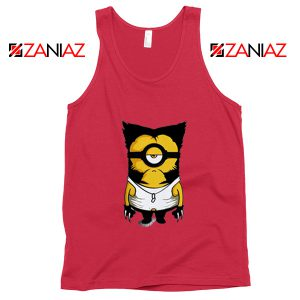 Minion Wolverine Tank Tops Funny Minion Tank Top Size S-3XL Red